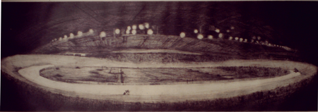 Manchester-velodrome--poss-1998-dry-point-etching-30x90