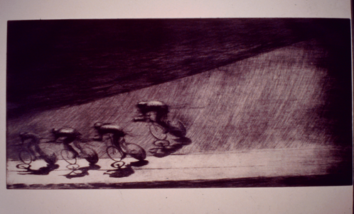 Pursuit-3-drypoint-etching-1997-Amica-award-30x60