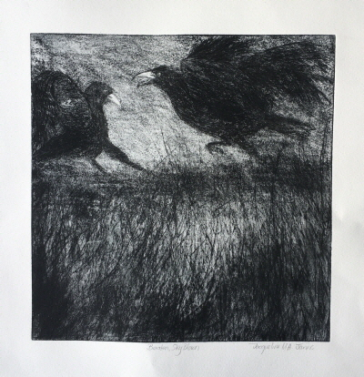 Beaten, Sky Blown Dry point etching