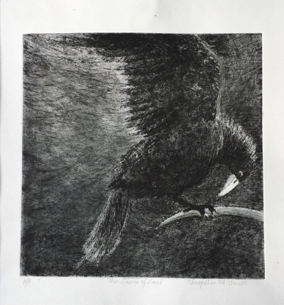 The Beckoning. Dry point etching