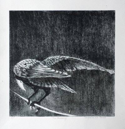 The silence of Lead Dry point etching
